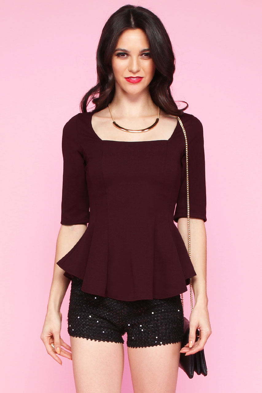 CLOTHING / TOPS / Raquel Peplum Top